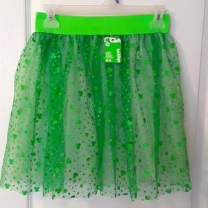New St. Patrick's Day tulle skirt.